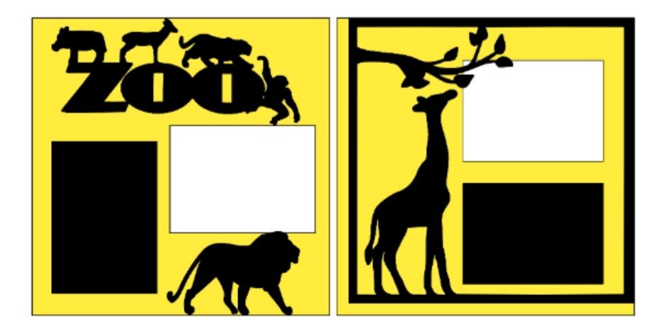 Zoo (giraffe)--  page kit