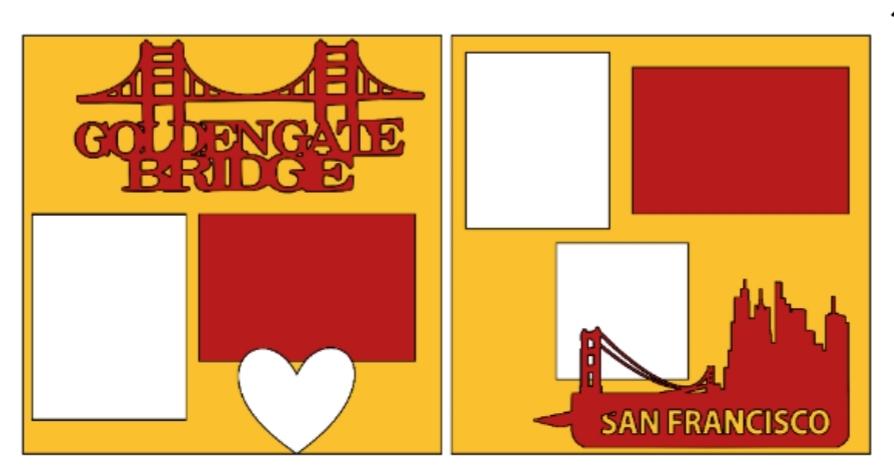 Golden gate bridge--  page kit