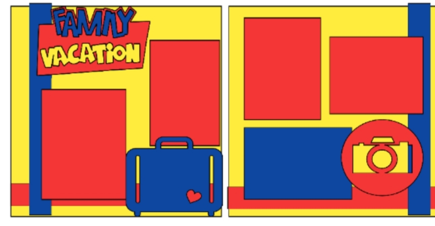 Family Vacation (primary)--  page kit