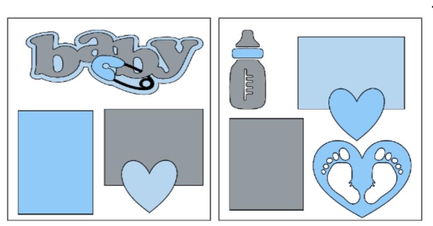 Baby (boy)-  page kit