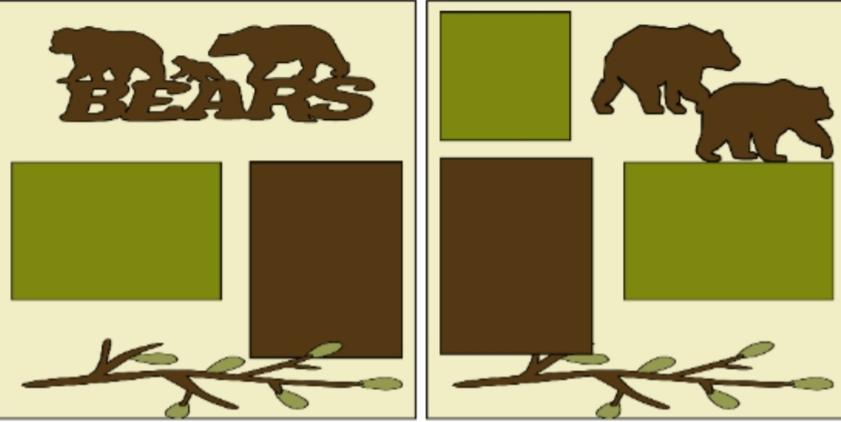Zoo Bears--  page kit