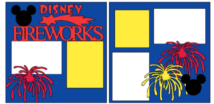 Disney Fireworks--  page kit