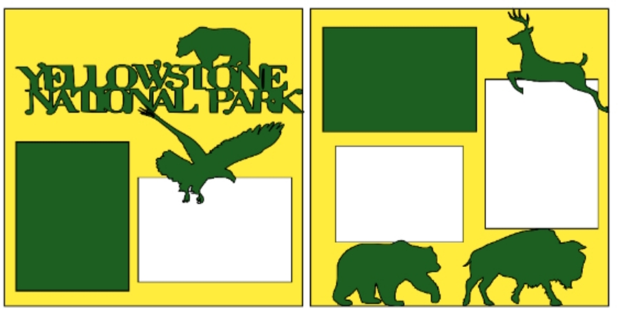 Yellowstone National Park--  page kit
