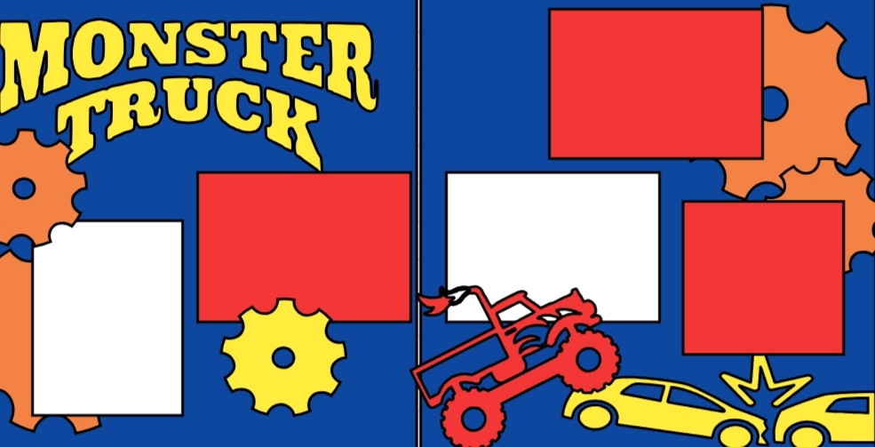 Monster truck--  page kit