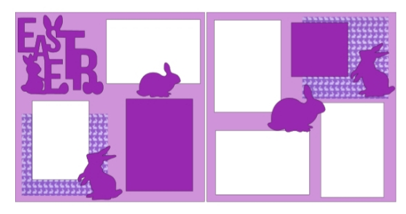 Easter (purple)  page kit