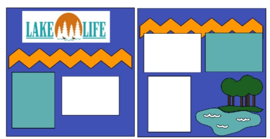 Lake life--  page kit