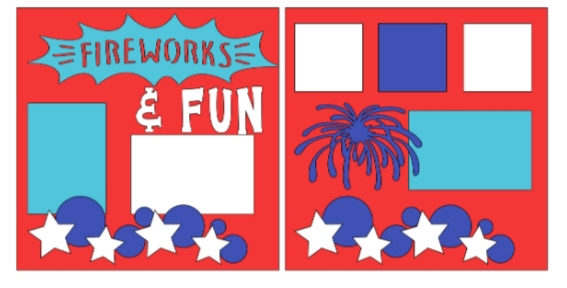 Fireworks and fun-  page kit