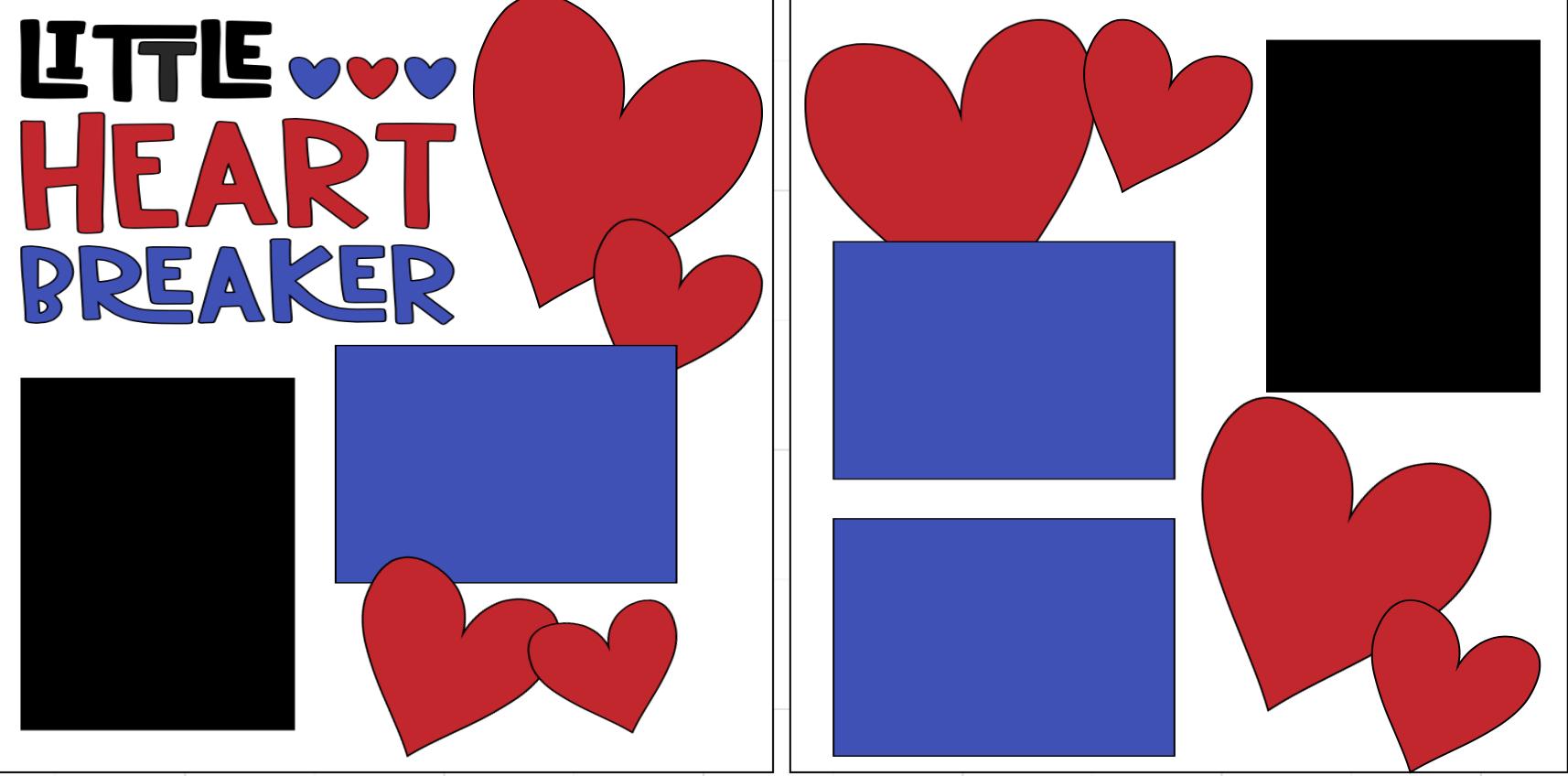 Little Heart Breaker Die cuts only