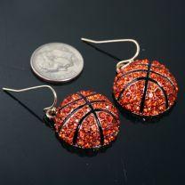 Basketball fishhook Earrings