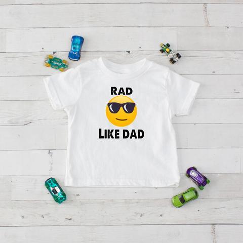 Rad Like Dad Emoji Graphic T-Shirt 2T-7 YEARS