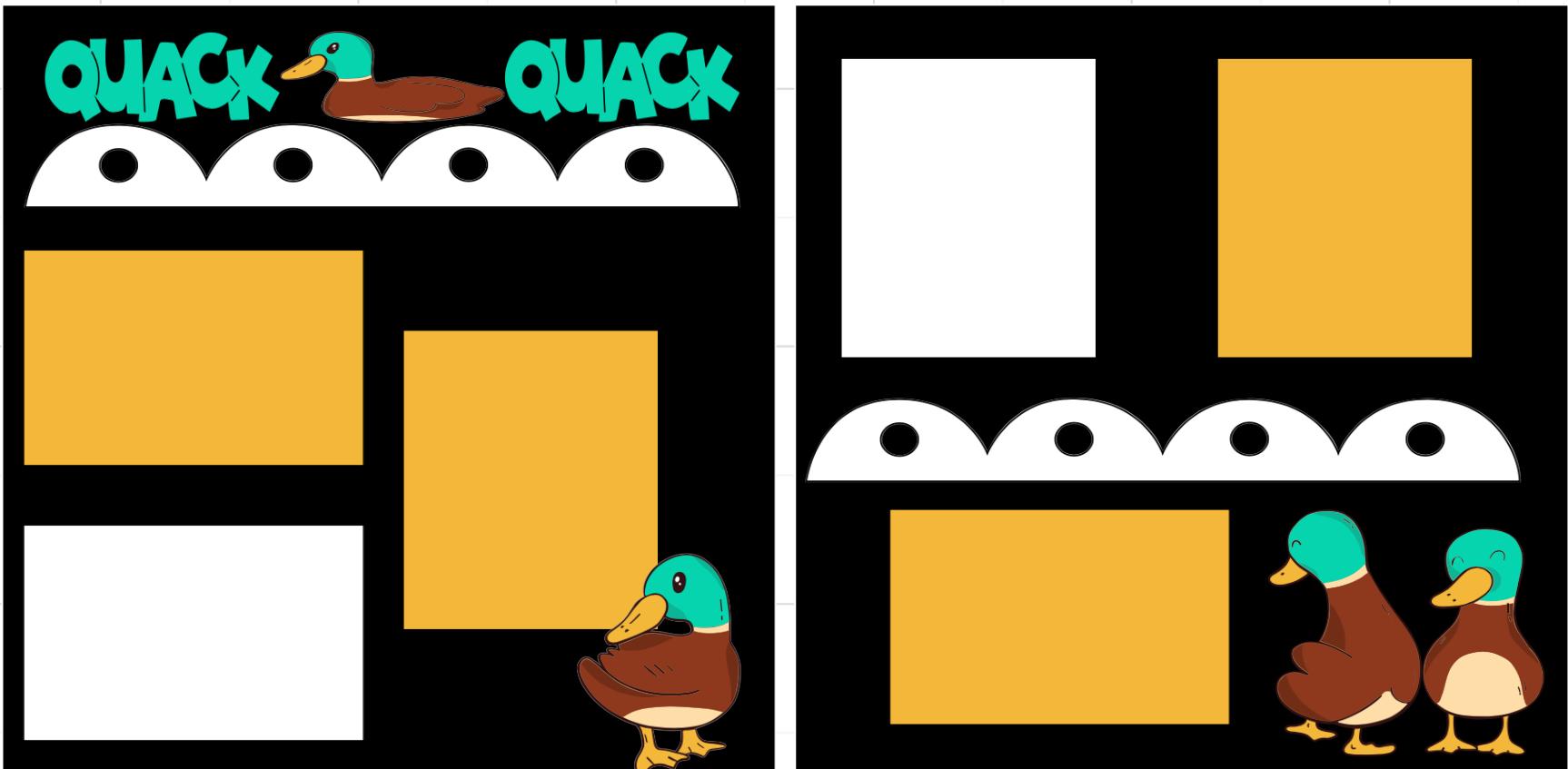 QUACK QUACK Feeding the Ducks-  page kit