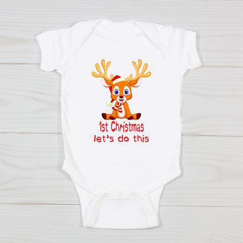 1st Christmas Let's Do This Bodysuit