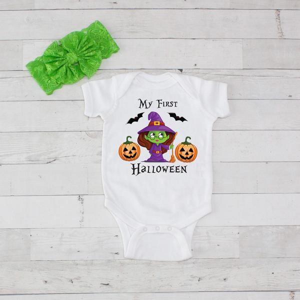 My 1st Halloween Onesie Little Witch personalized