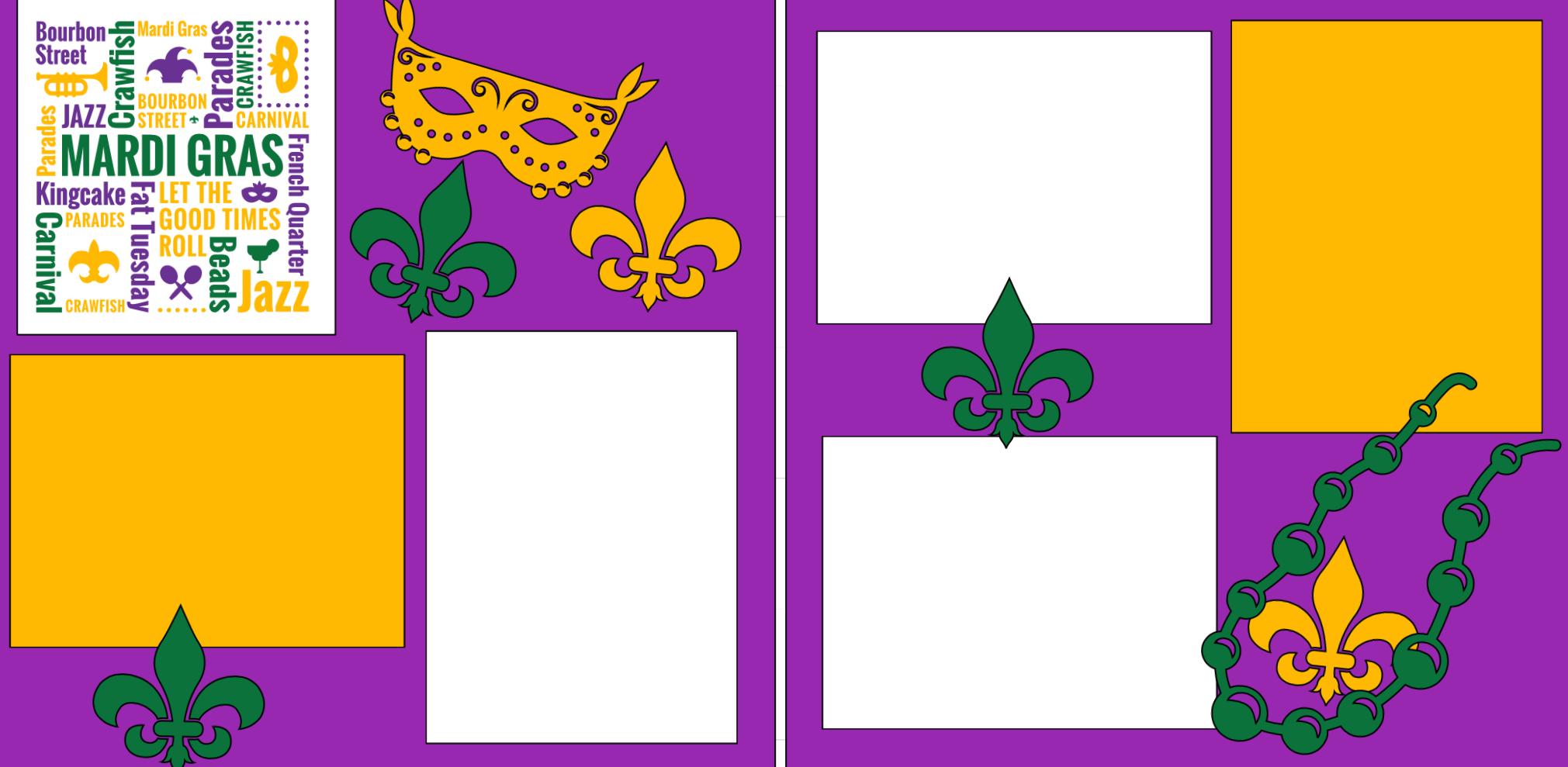 Mardi Gras -  page kit