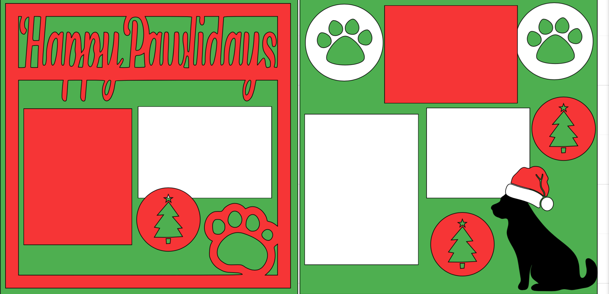 Happy Pawlidays-  page kit