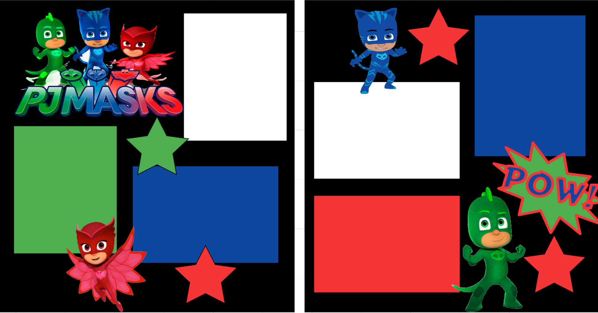PJ Masks-  page kit
