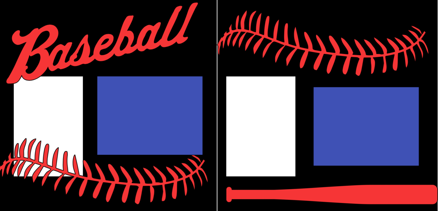 Baseball 3-  page kit
