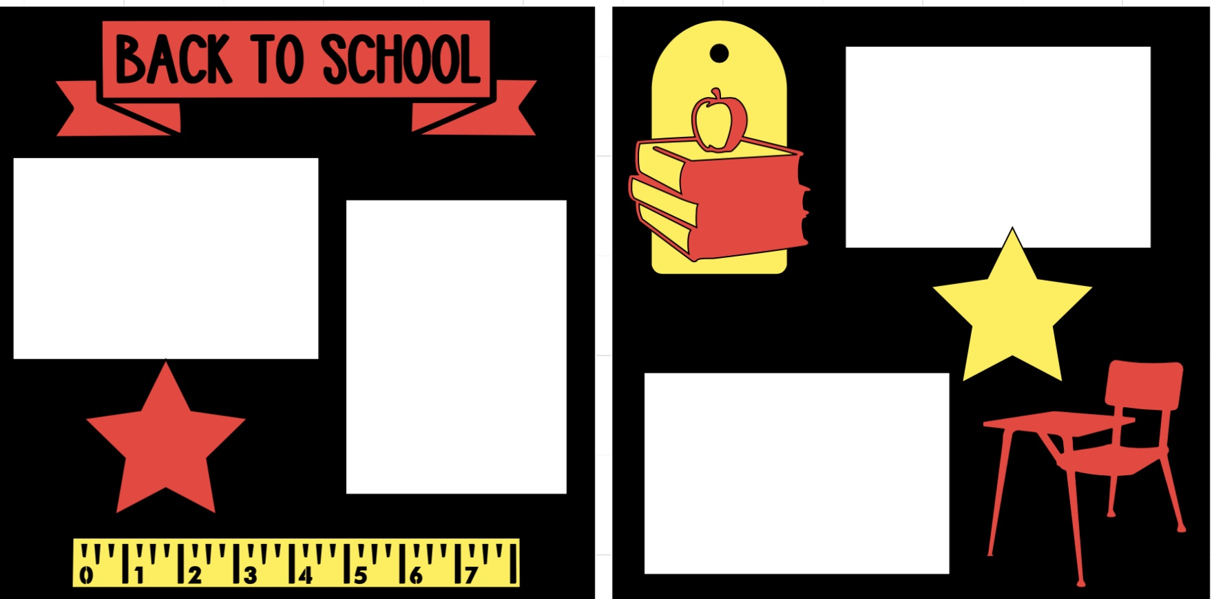 Back to School (ruler)-  page kit