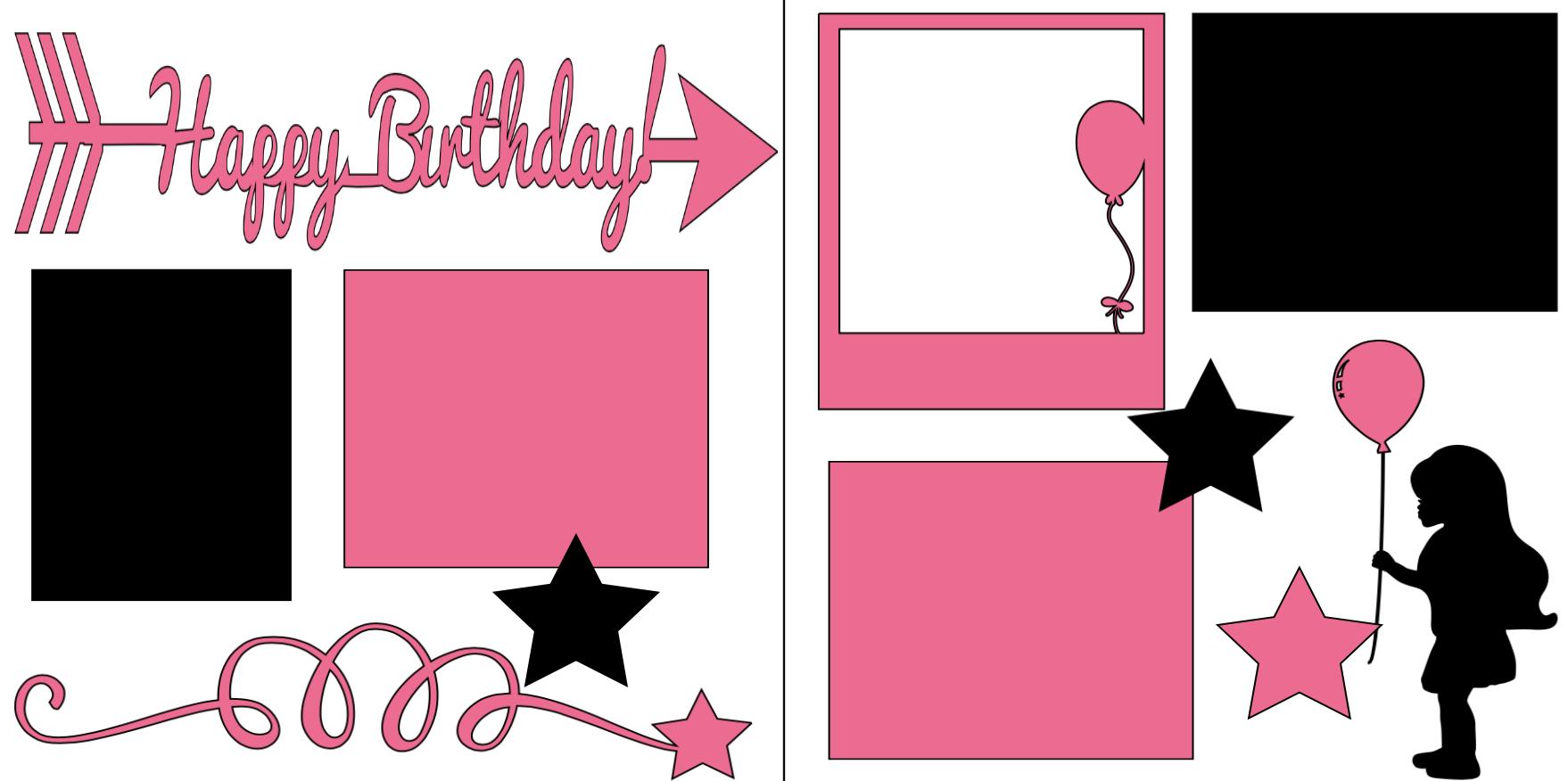 Happy Birthday GIRL -  page kit