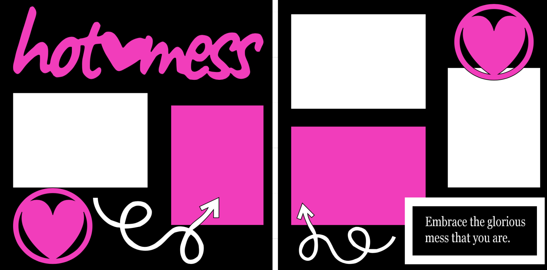 Hot mess -  page kit