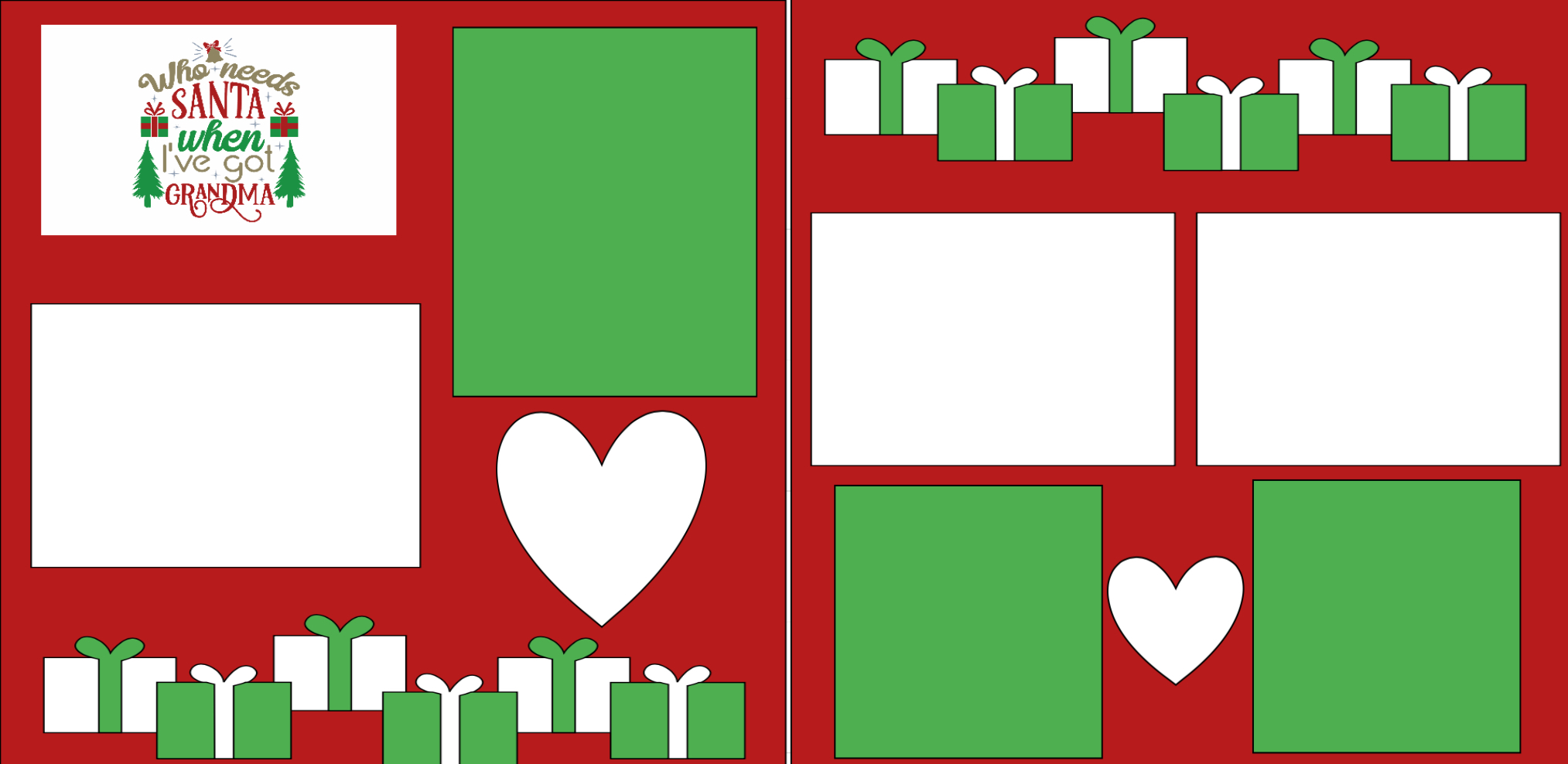 Who needs santa I've got Grandma   page kit