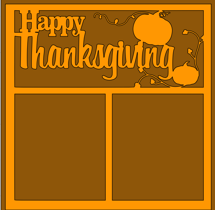 Happy Thanksgiving Overlay -page kit