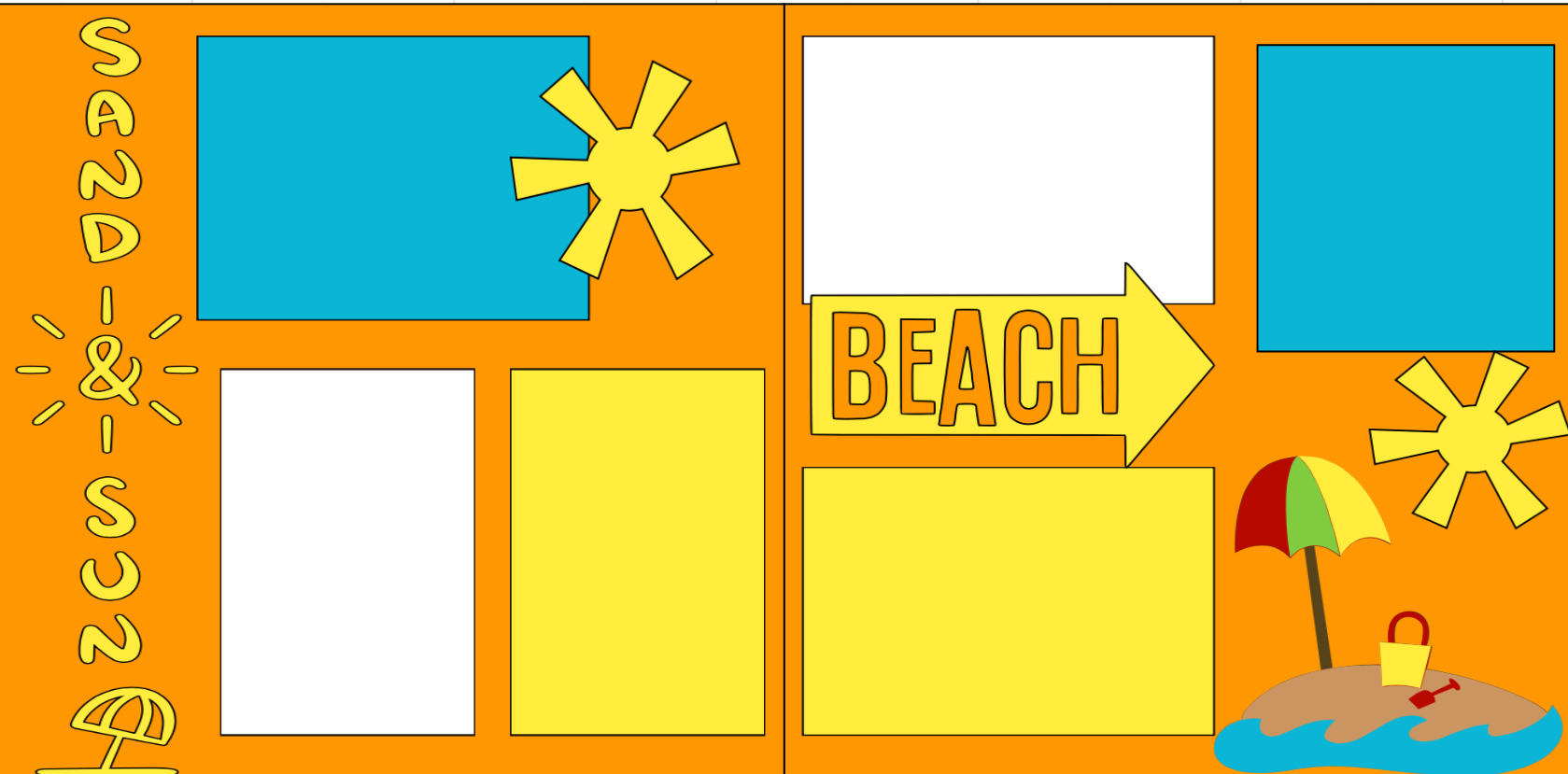 Sand & Sun -  page kit