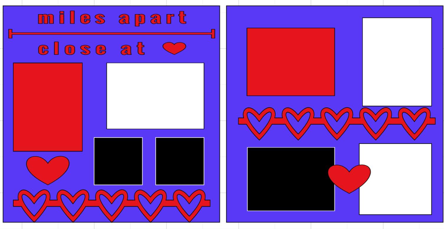 Miles Apart Close at Heart-  page kit