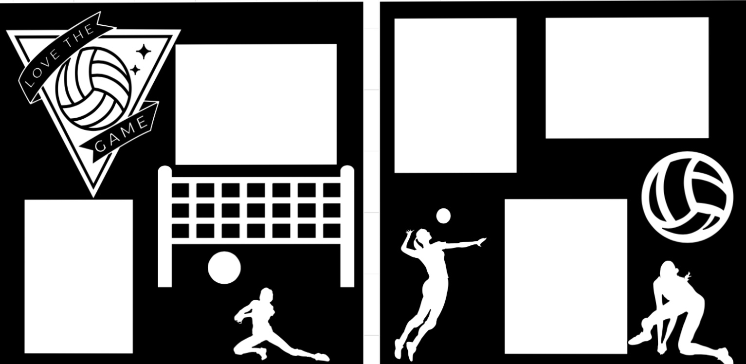Volleyball Love the Game-  page kit