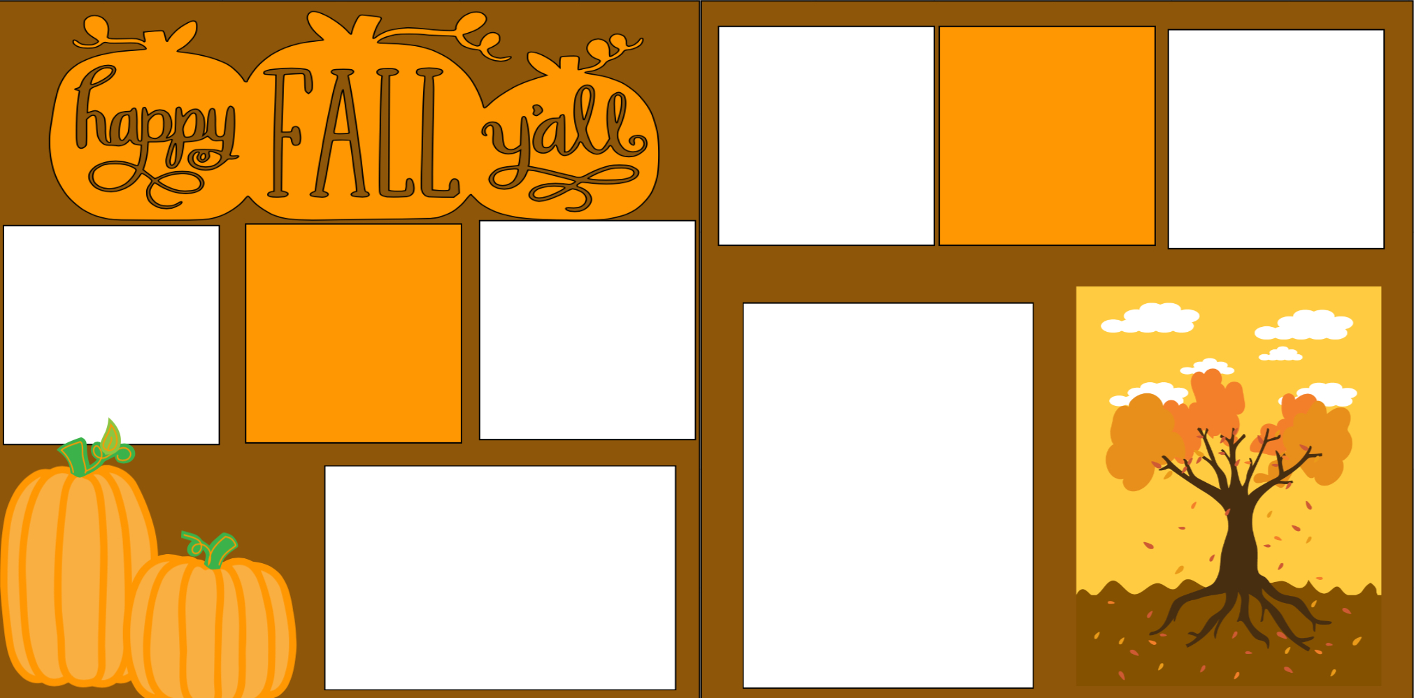 Happy Fall Y'all -  page kit