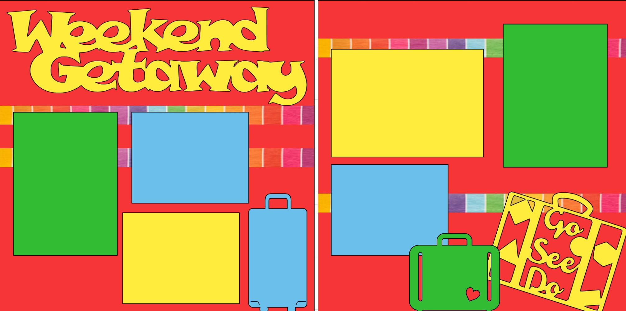 Weekend Getaway-  page kit