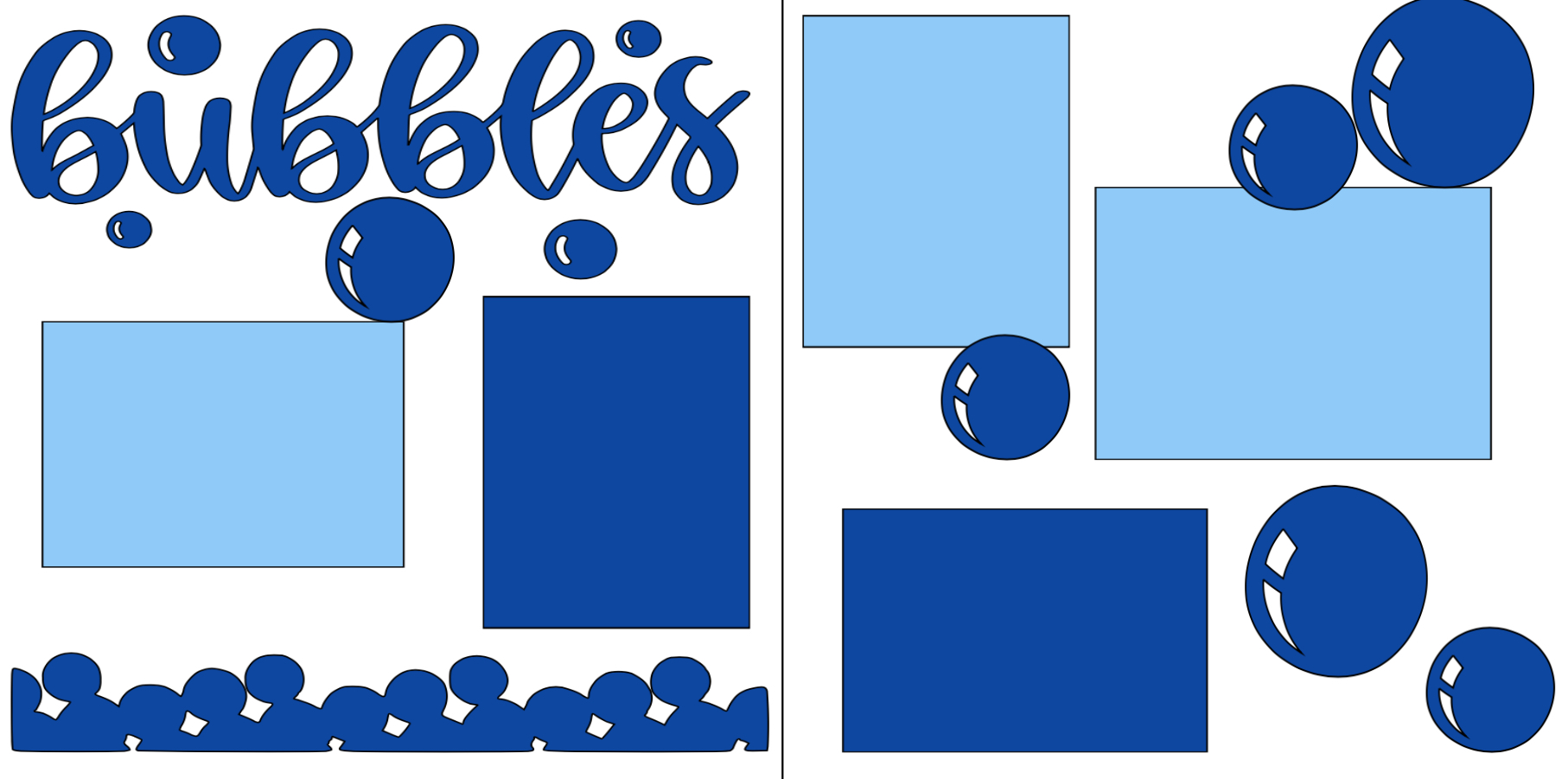 BUBBLES -  page kit