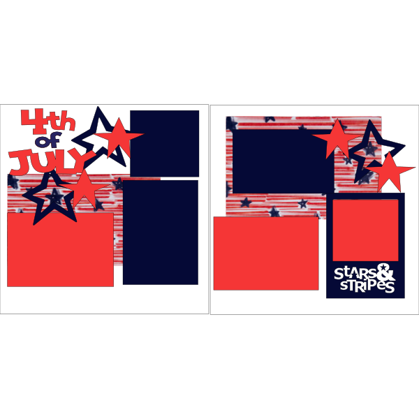4TH OF JULY (STARS)  - PAGE KIT