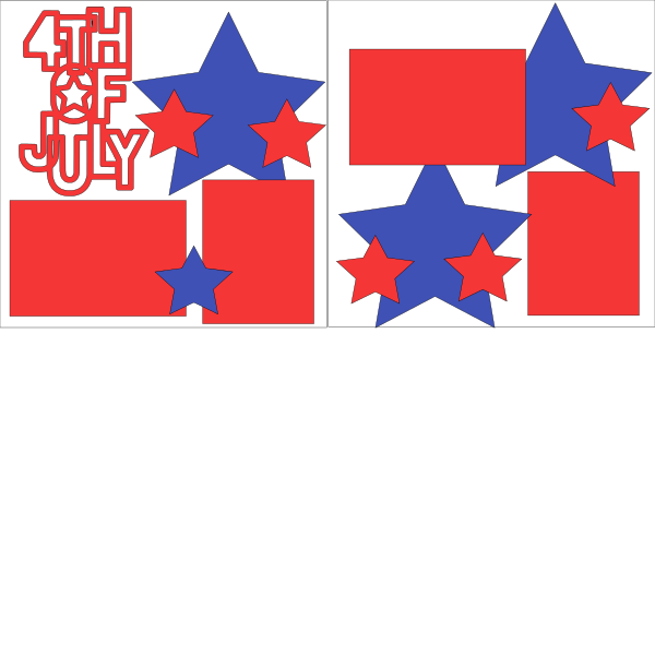4TH OF JULY ******  -basic page kit
