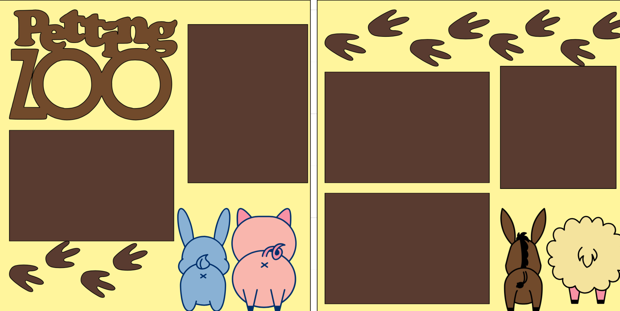 Petting zoo -  page kit