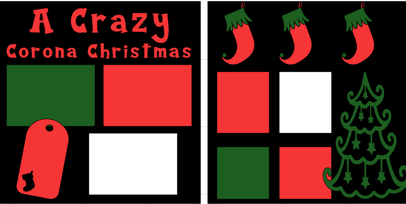 Crazy COVID Christmas -  page kit
