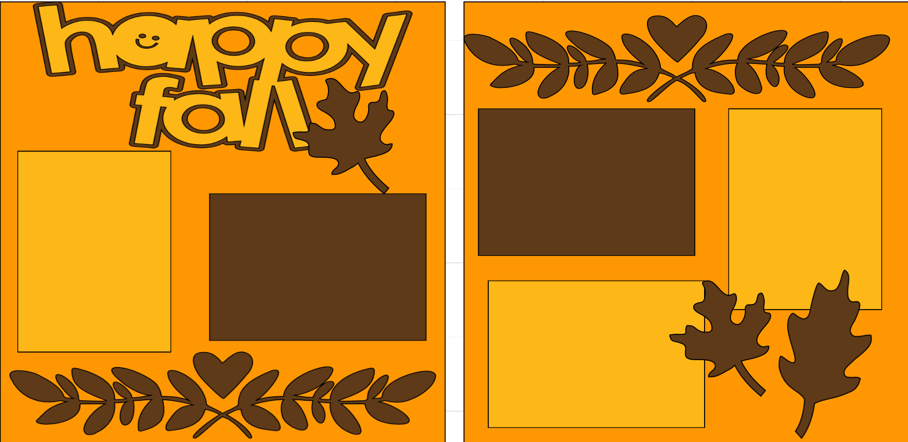 Happy Fall -  page kit