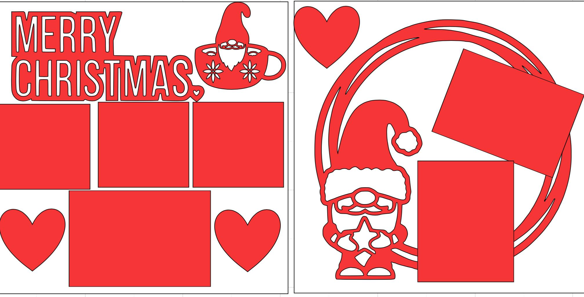 Merry Christmas gnome)-  page kit