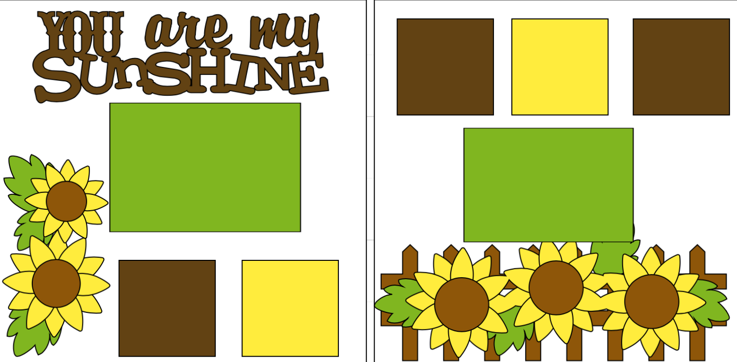 You are my Sunshine-  page kit