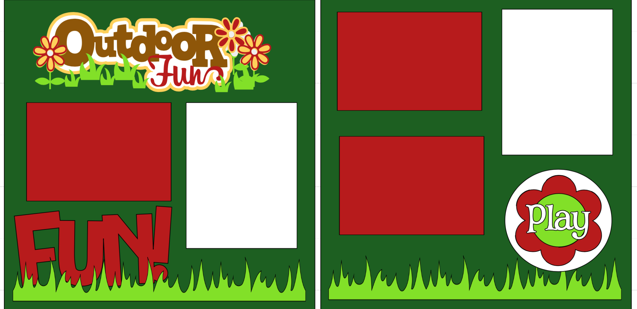 Outdoor Fun **-  page kit