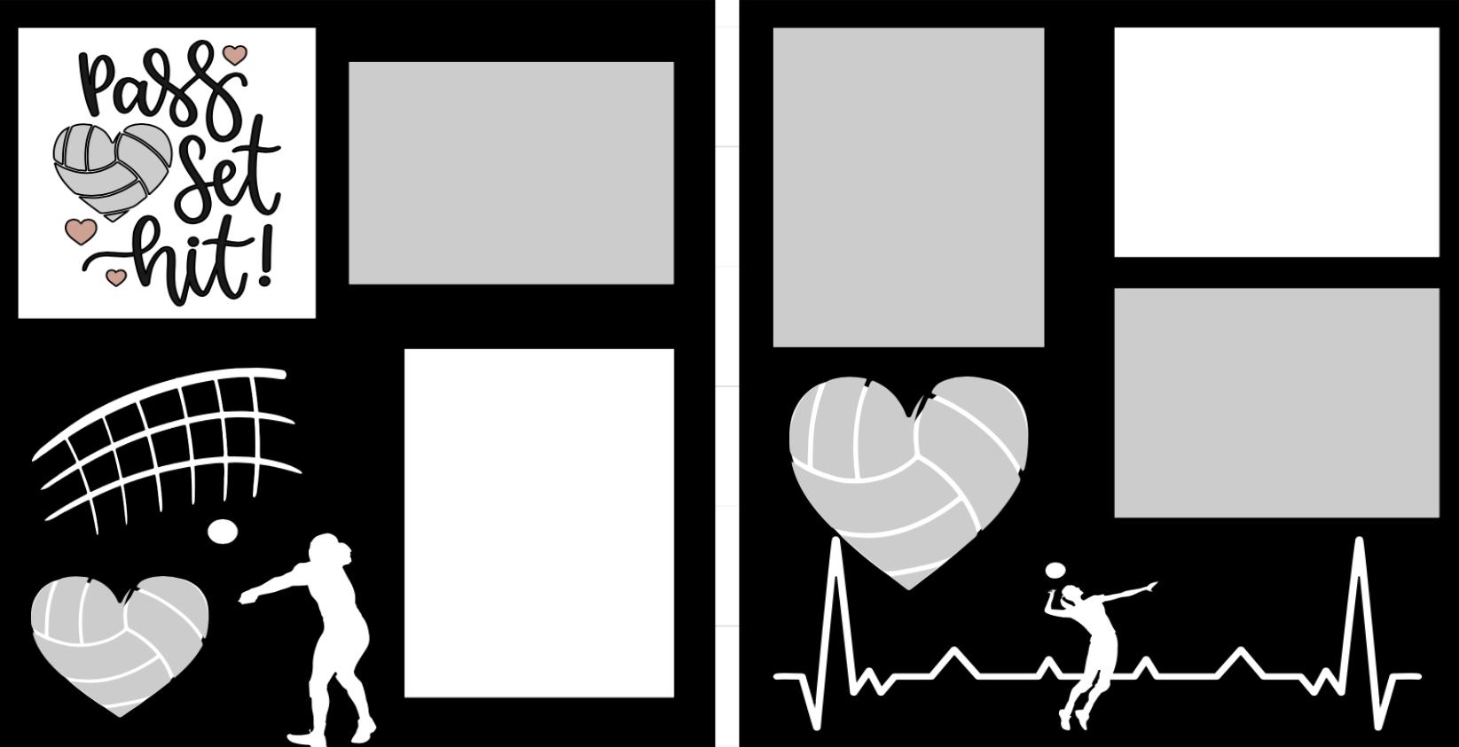 Volleyball Pass Set Hit-  page kit