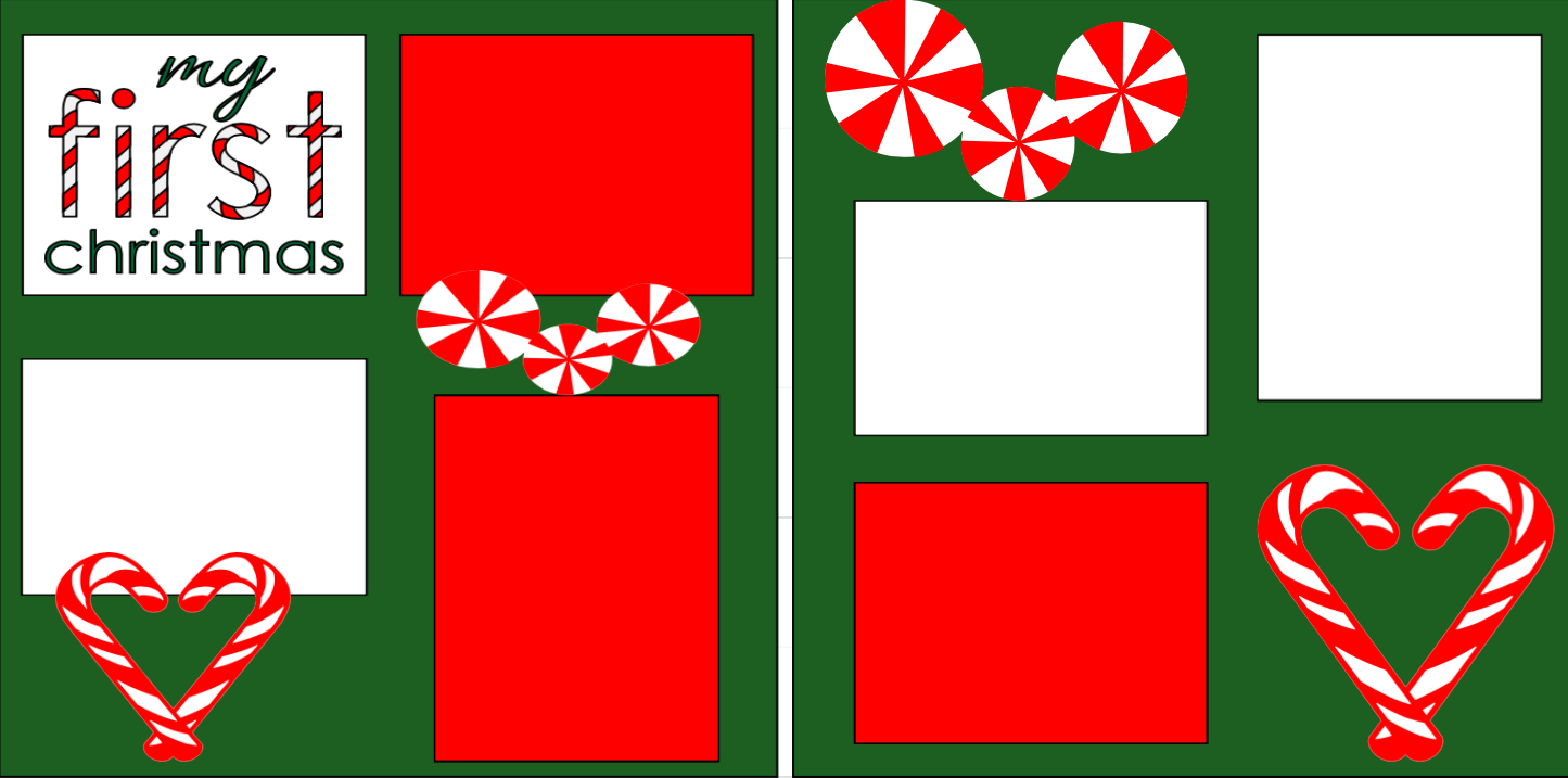 First Christmas Candy Cane-  page kit