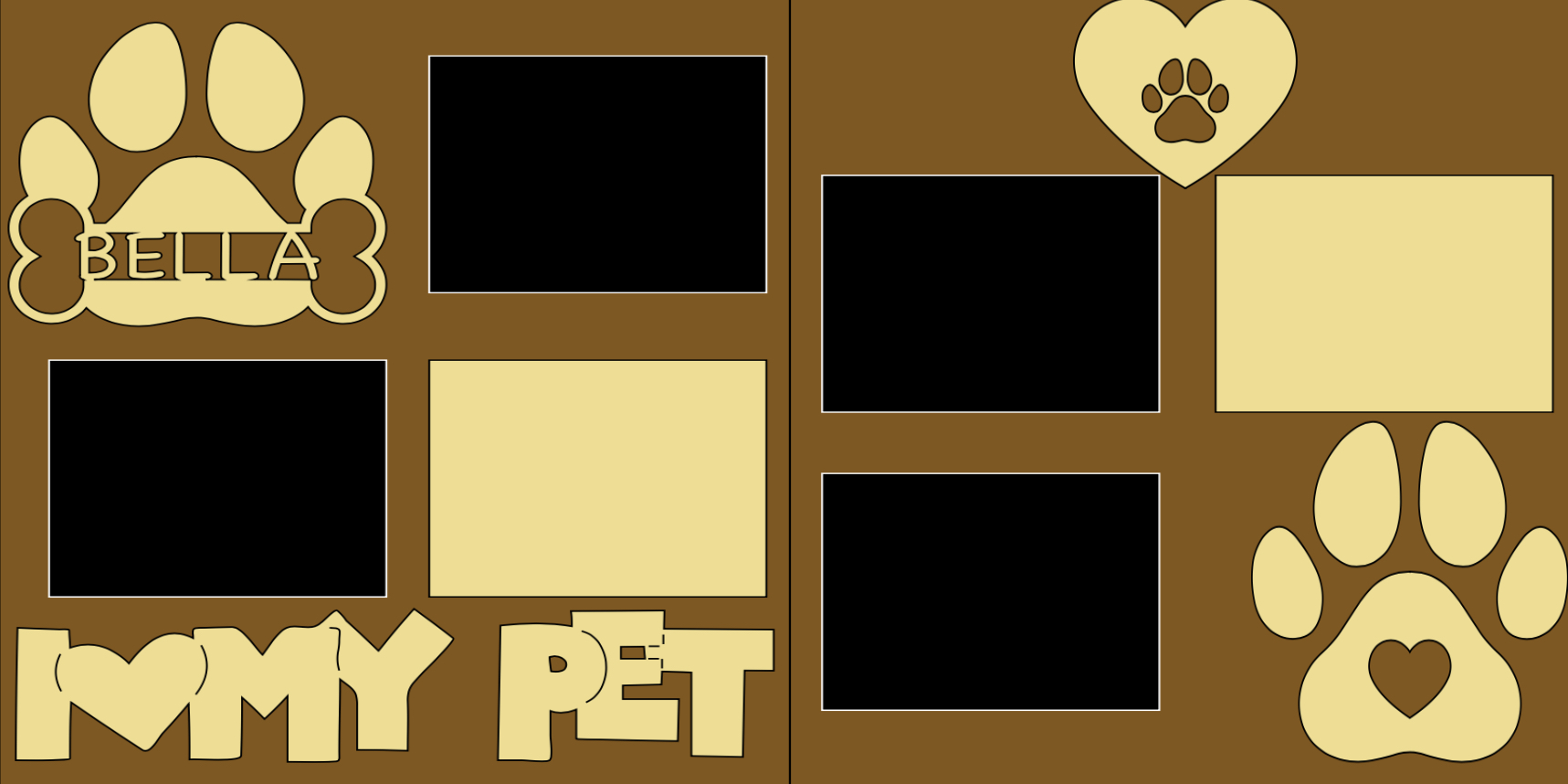 Personalized I love my Pet-  page kit