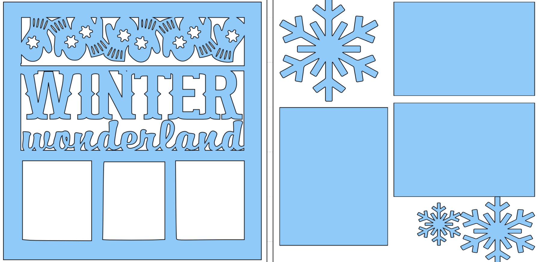Winter Wonderland-  page kit
