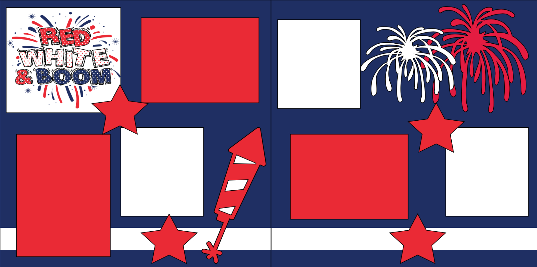 Red white and boom -  page kit