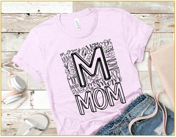 Mom word tee