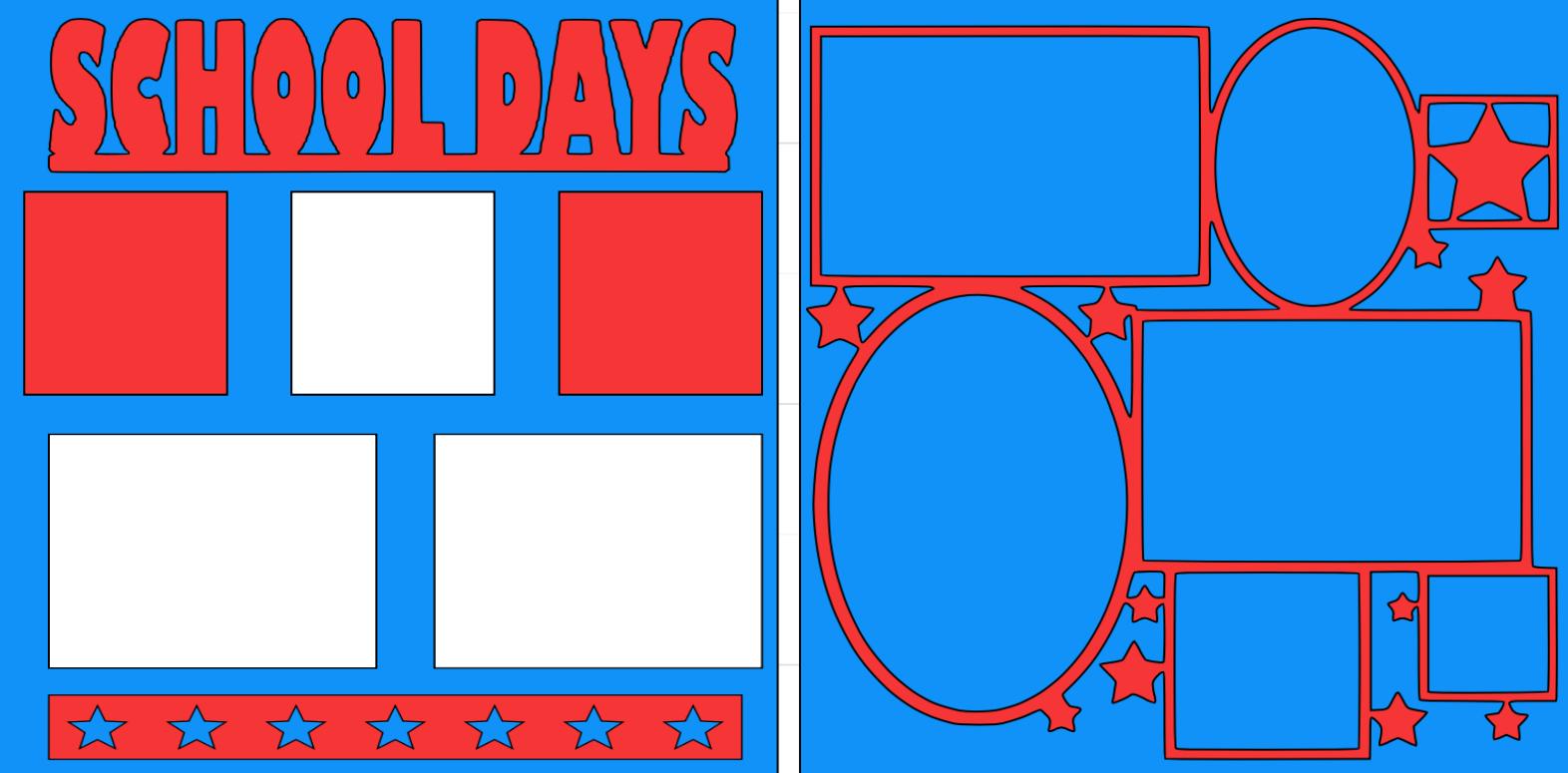 School Days 2020-  page kit