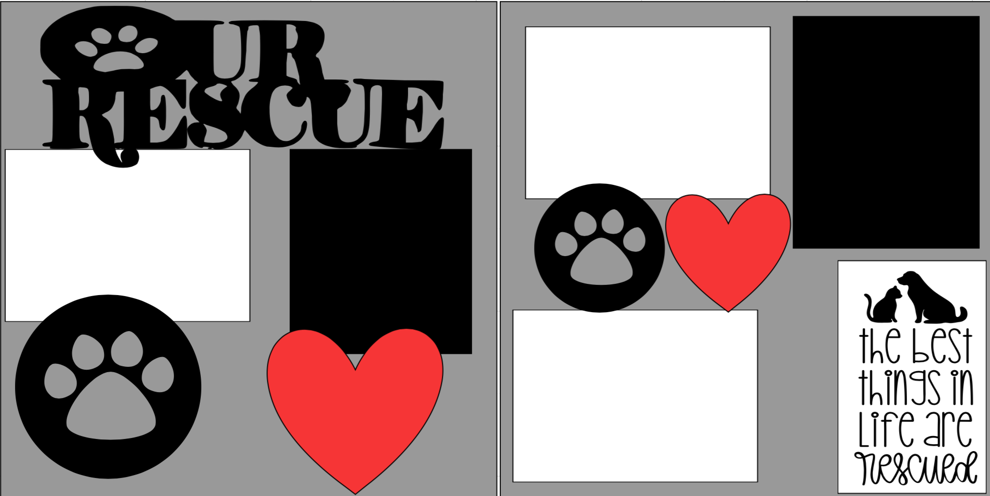 Our Rescue (pets) -  page kit
