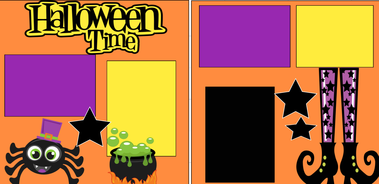 Halloween Time  page kit
