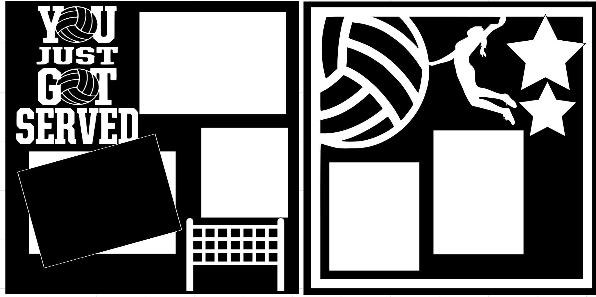 Volleyball You just got served-  page kit